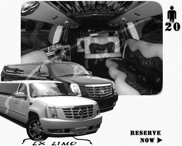 Cadillac Escalade 20 passenger SUV Limousine for rental in Fort Worth, TX