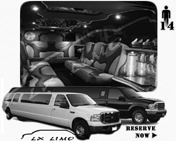 Lincoln Excursion SUV Limo for hire in Fort Worth, TX